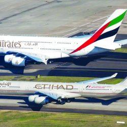 شركات الطيران «الإمارات» و«الاتحاد» افضل  ناقلات  العالم