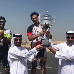 عبد الباقي يعانق كأس نائب رئيس الدولة لهواة الدراجات