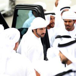 الشيخ حمدان بن محمد يشهد سباقات الرموز للقبائل