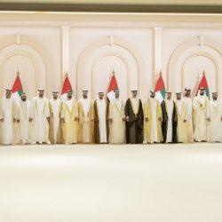 الشيخ محمد بن راشد يتقبل تهاني محمد بن زايد وحكام الإمارات والشيوخ بزفاف أنجاله