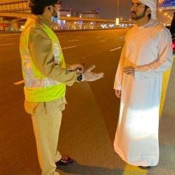 الشيخ حمدان بن محمد يتفقّد دوريات الشرطة في مواقع العمل بشارع الشيخ زايد