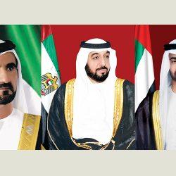 الشيخ خليفة بن زايد  ونائبه ومحمد بن زايد يهنئون قادة الدول العربية والإسلامية بحلول شهر رمضان