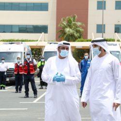 الشيخ حمدان بن محمد يتفقد الفرق العاملة في المرافق الخدمية والأمنية