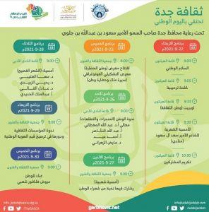 أدبي جدة وجمعية الثقافة والفنون يعلنان: غداً انطلاقة فعاليات الاحتفاء باليوم الوطني 91