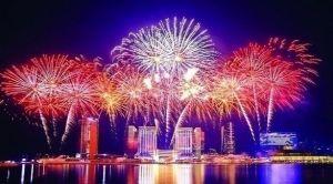 أبوظبي تحتفل برأس السنة 2021 بعروض مبهرة للألعاب النارية