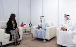 الشيخ نهيان بن مبارك يستضيف وزيرة السياحة المغربية في مركز دبي للمعارض