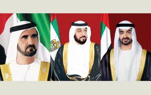 الشيخ خليفة بن زايد ومحمد بن راشد ومحمد بن زايد يهنئون ملك المغرب بمناسبة عيد العرش