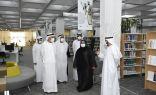 زكي نسيبة يزور مكتبة زايد المركزية  التابعة لدائرة الثقافة والسياحة