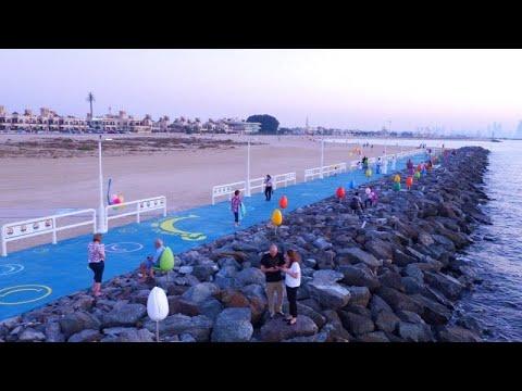 شاهد: تدشين أوّل منصة شاطئية للسعادة في دبي