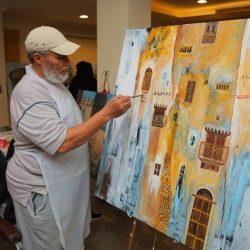 20 لوحة فنية تروي جماليات الخط العربي في معرض باجنيد بجدة التاريخية